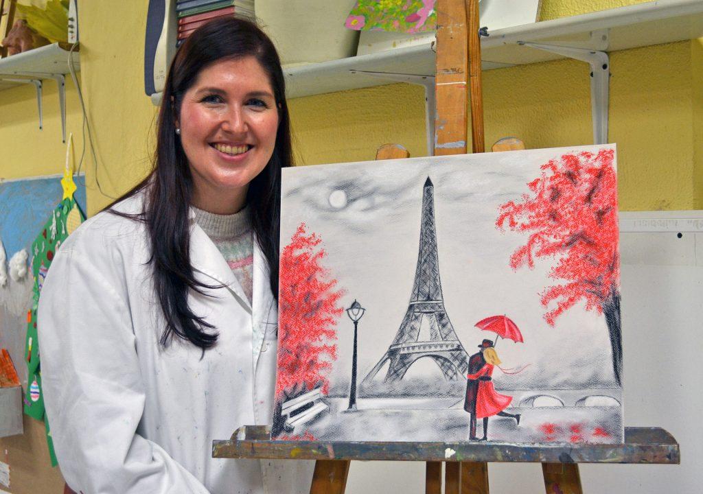 Patricia, pastel. Taller Aceña - Olmedo, curso 2018-2019