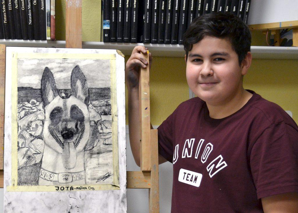 Jon Ander, grafito. Taller Aceña - Olmedo, curso 2018-2019
