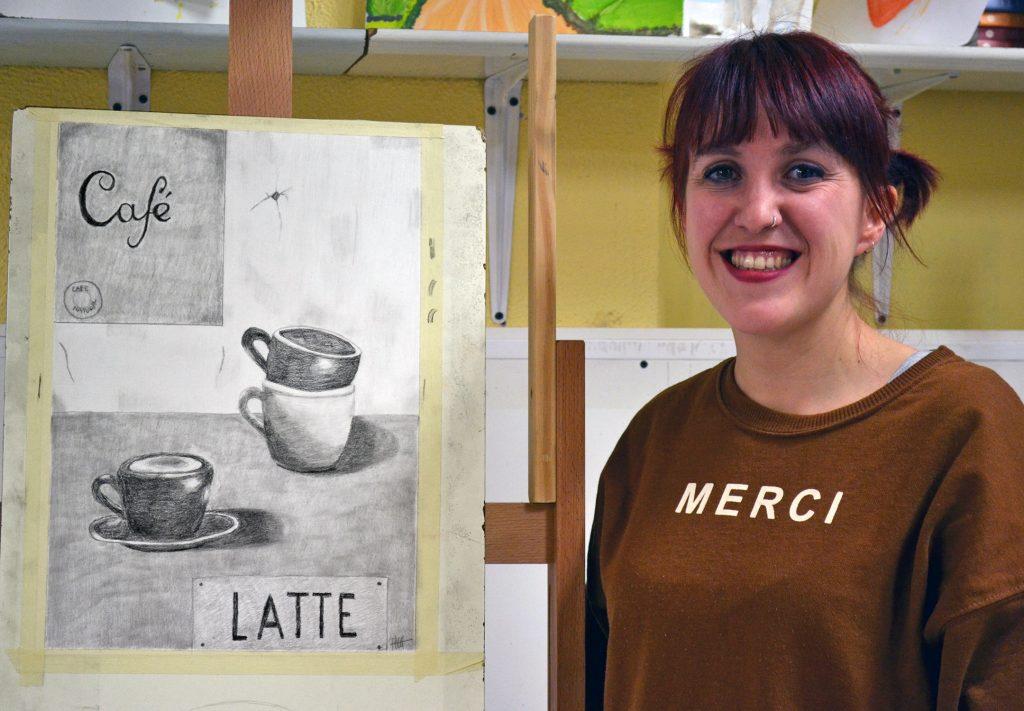 Paula, grafito. Taller Aceña - Olmedo, curso 2018-2019