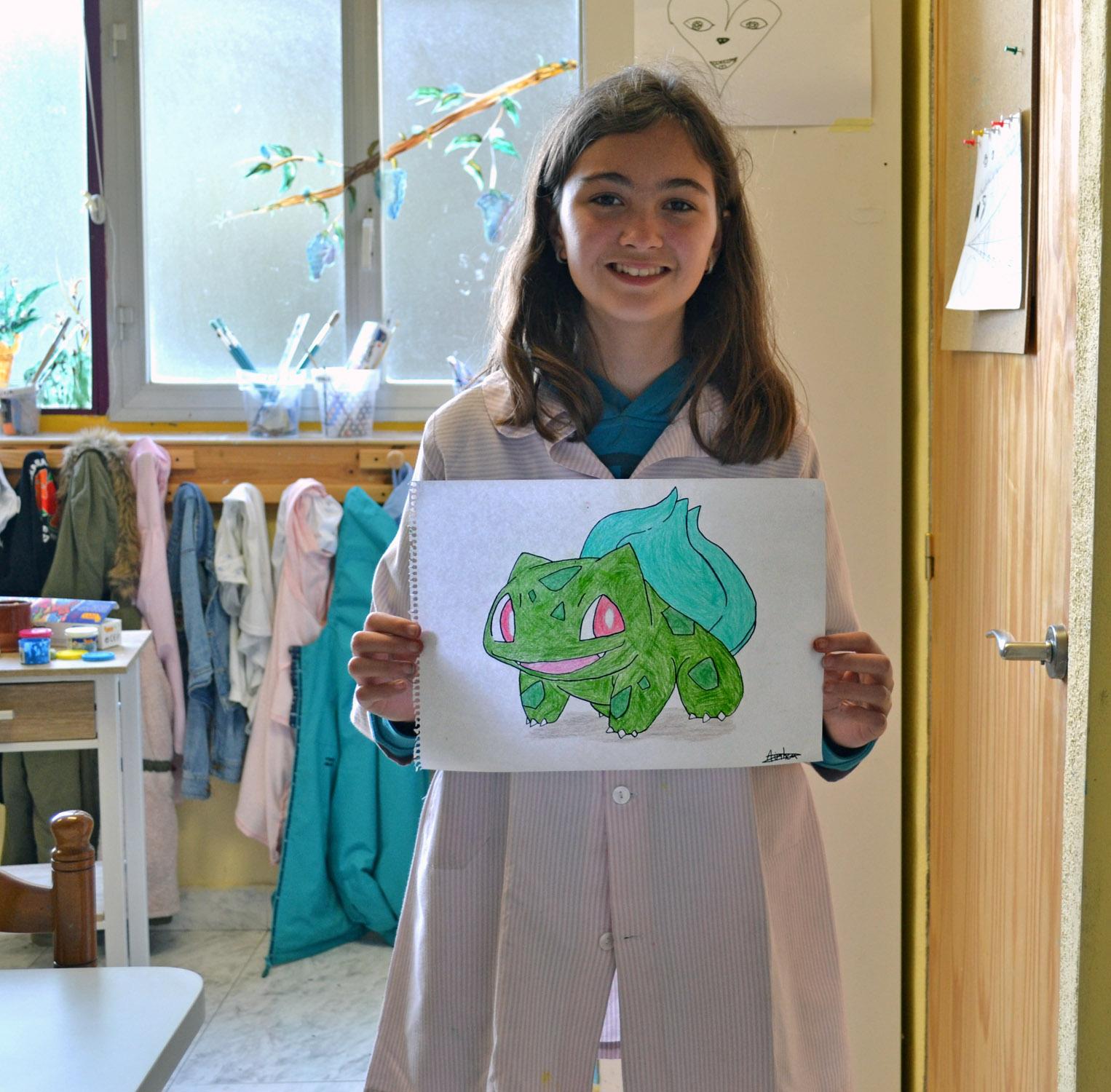 Ainhoa,lápices de colores. Taller Aceña - Olmedo, curso 2018-2019