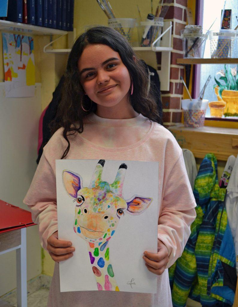 Gabriela, pinturas acuarelables. Taller Aceña - Olmedo, curso 2018-2019