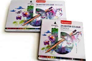 Lápices acuarelables Bruynzeel Expression en caja metálica