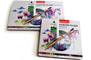 Lápices acuarelables Bruynzeel Expression en cajas de 24 y 36 colores