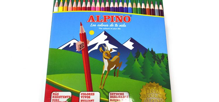 Caja de 24 lápices color Alpino