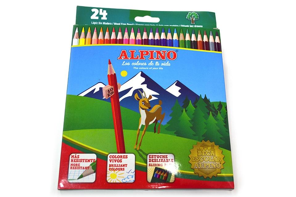 Caja de 24 lápices color Alpino