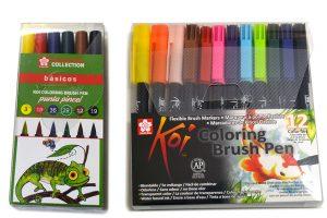 """Cajas de """"Brush Pen"""" Koi de Sakura"""