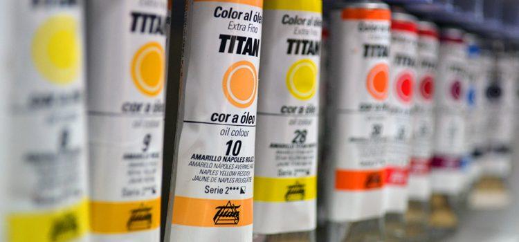 Óleo Titán, tubo de 20 ml.