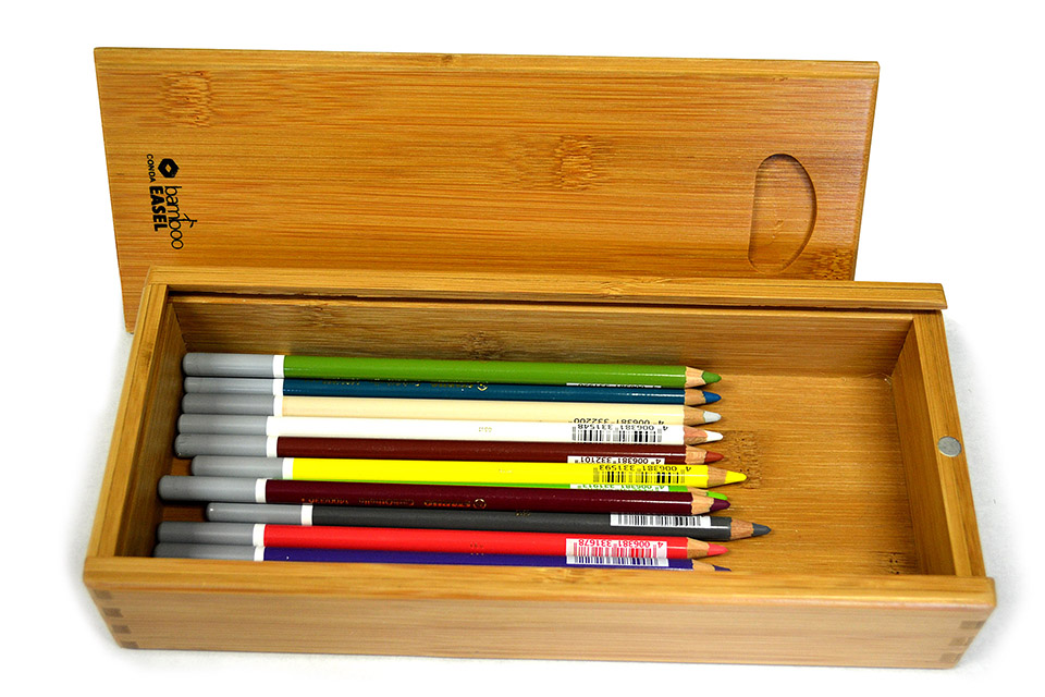 Caja de madera con 15 lápices pastel Stabilo Carbothello