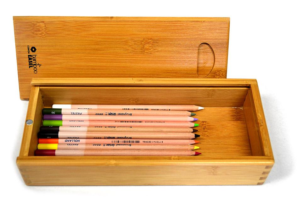 Caja de madera con 15 lápices pastel Bruynzeel