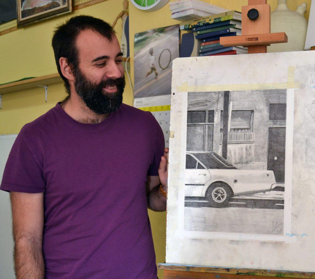 Imanol Napal, grafito. Taller Aceña - Olmedo, curso 2018-2019