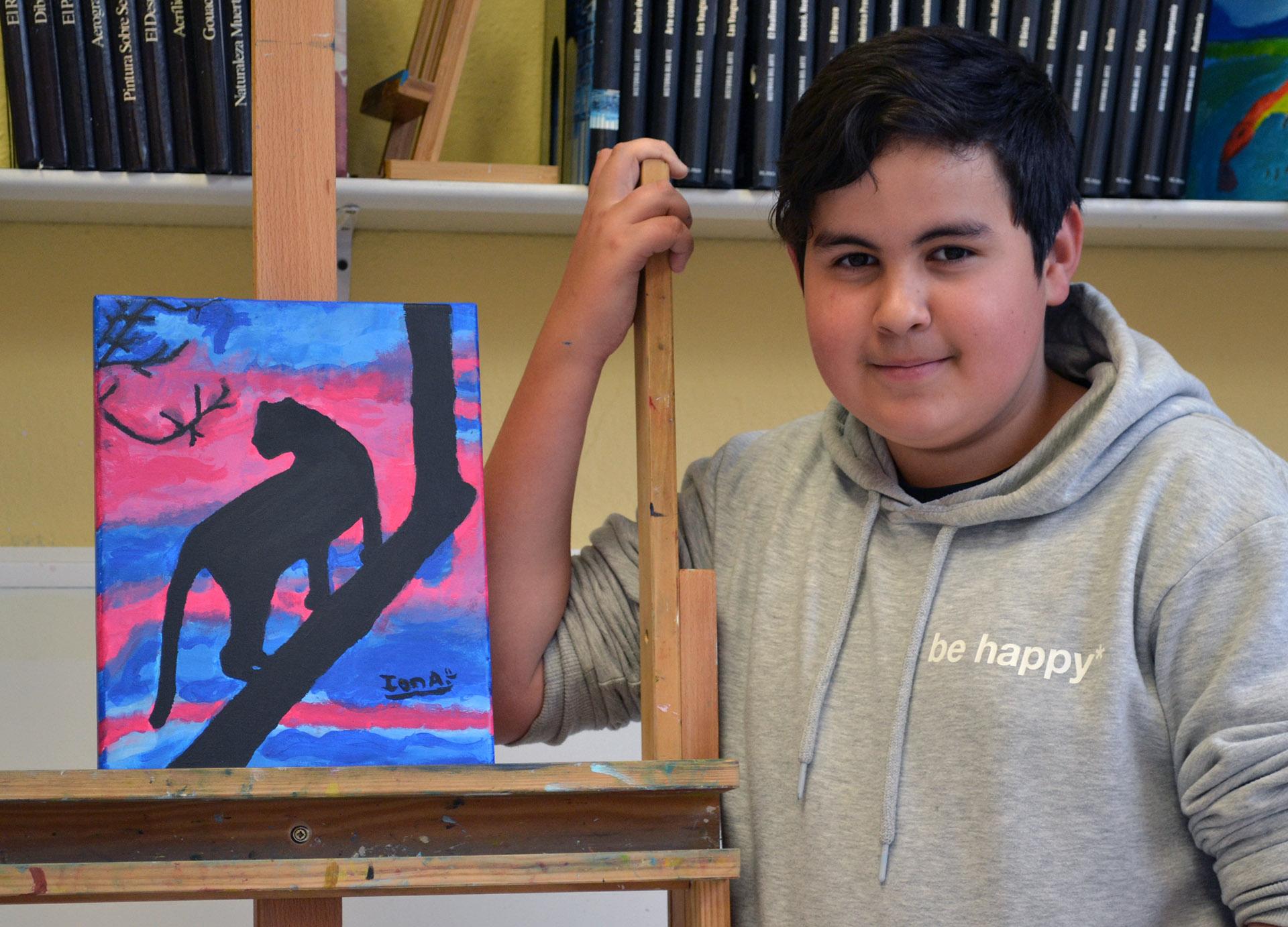 Ion Ander, acrílico. Taller Aceña - Olmedo, curso 2018-2019