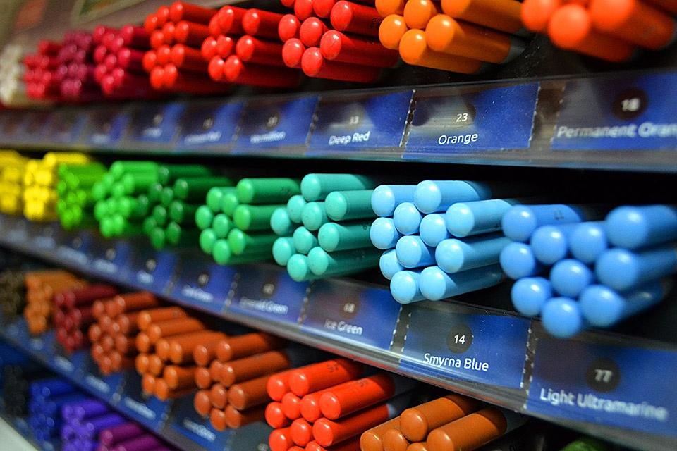 Lápices y barras acuarelables
