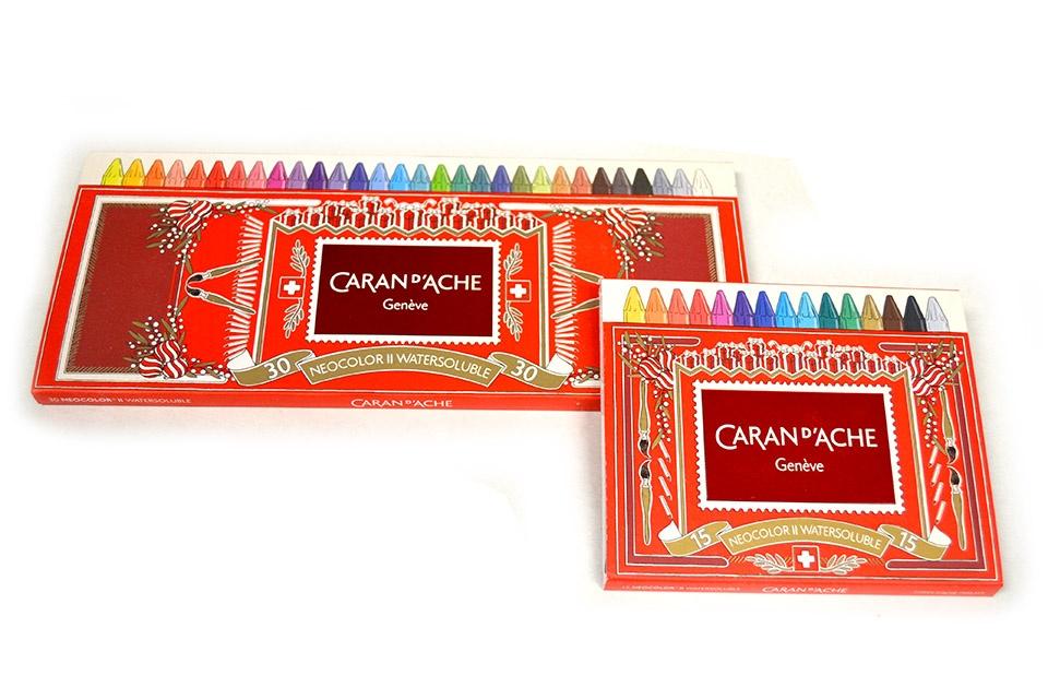 Barras acuarelables CaranD´ache, en cajas de 15 y 30 colores
