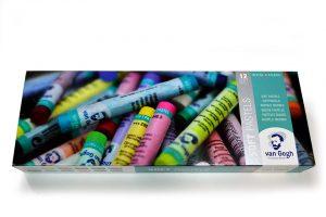 Tizas de pastel Van Gogh en caja de 12 colores