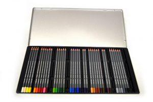Lápices acuarelables Dalbe en cajas metálicas de 24 y 36 colores