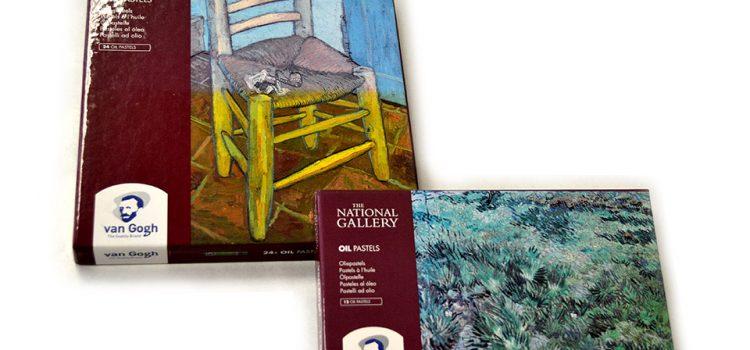 Pastel al óleo Van Gogh en cajas de 12 y 24 colores