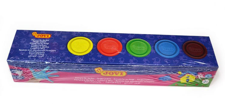 Pintura de dedos Jovi, caja de 5 colores