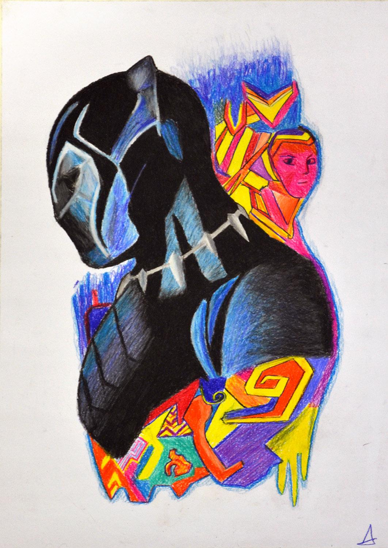 Sergio Arilla, lápiz color. Taller Aceña - Olmedo, curso 2018-2019