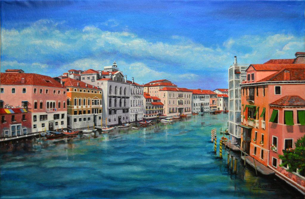 Venecia III. Pilar Aceña, óleo. 57 x 38 cm, año 2019. PVP 290,00 €