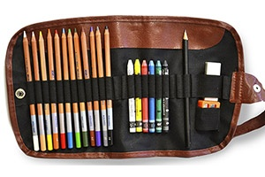 Set de acuarela en estuche enrollable