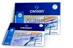 Papel para acuarela y témpera Canson