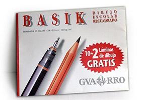 Papel de dibujo escolar recuadrado Gvarro