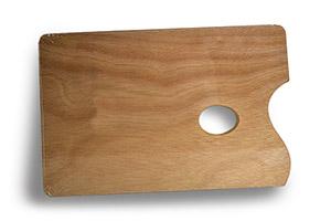 Paleta cuadrada de madera 29,5 x 19,5 cm