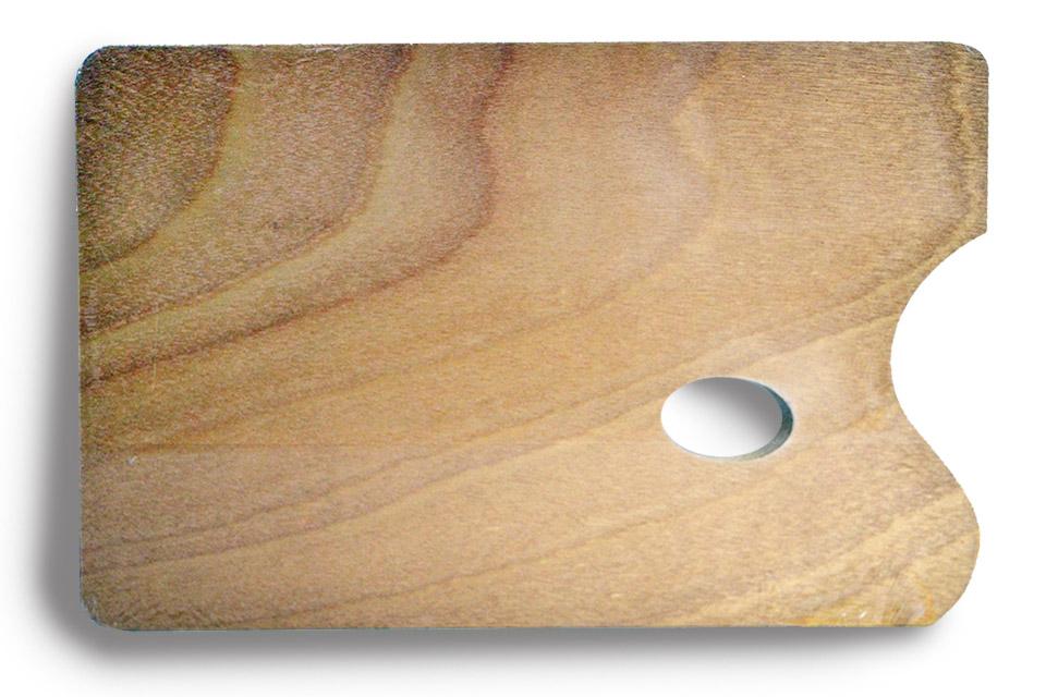 Paleta cuadrada de madera, 34,5 x 24 cm