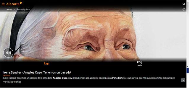 """La acuarela de Irena Sendler en RTVE """"A la Carta"""""""