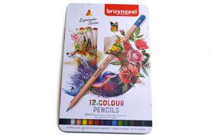 Caja metálica con 12 lápices color Bruynzeel Expression