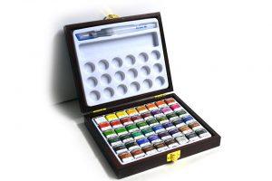 Maletín de madera 48 colores de acuarela Wingo