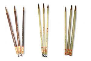 Pinceles orientales Artist, acuarela y tinta