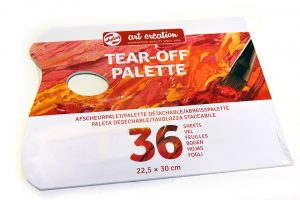 Paleta de 36 hojas desechables Art Creation