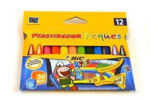"Caja de 12 colores Plastidecor ""Peques"""
