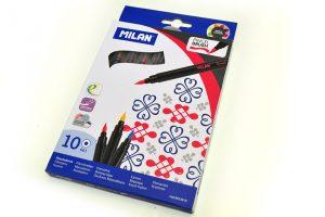 Brush Pen Milan, caja de 10 colores