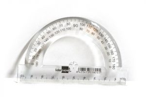 Regla portaángulos de 10 cm