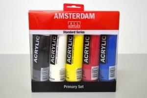 Set de 5 colores acrílicos Amsterdam