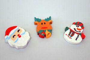 Gomas con motivos navideños