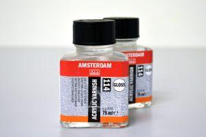 Barniz brillante óleo y acrílico Amsterdam
