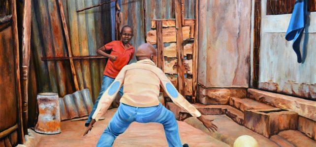 Preparando la exposición Kibera