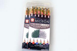 Caja de 6 Rotuladores color Sakura Pigma Micron