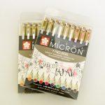 Caja de 9 Rotuladores color Sakura Pigma Micron