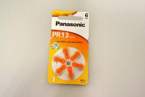 Pilas Panasonic PR13 para audífono
