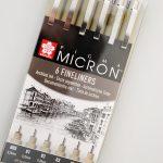 Caja 6 marcadores MICRON